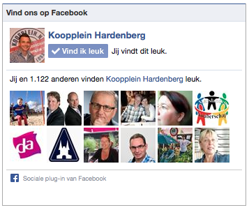 Facebook like box plugin Koopplein Hardenberg.1
