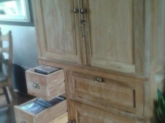 mooie teak houten kast