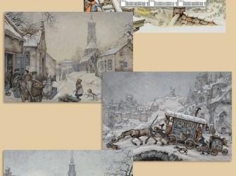 Postset Anton Pieck: Wintertaferelen # NVPH 2751D6