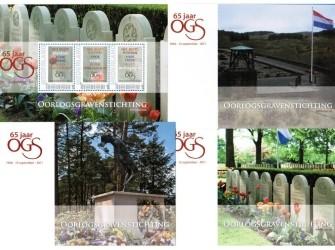 Postset Oorlogsgravenstichting 65 jaar OSG
