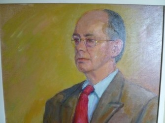 Portret van J. Staatsen, door Piet v. Oosterum
