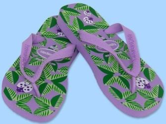 NIEUW! Havaianas slippers Garden mt 35/36 in lila