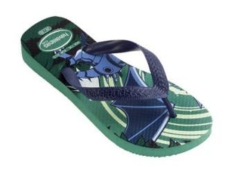 Havaianas slippers Dragon mt 35/36 in blauw+groen