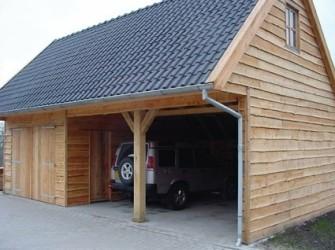 Berging dubbelwandig met dubbele carport