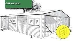 Garage Betonsysteembouw garage in houtprofiel steenmotief g…