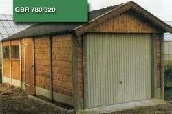 Beton hout combinatie garage