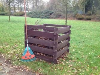 Kunststof compostbak onderhoudsvrij bruin
