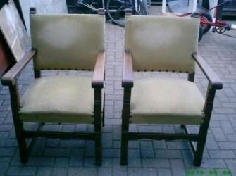 Antieke art deco opa en oma stoel
