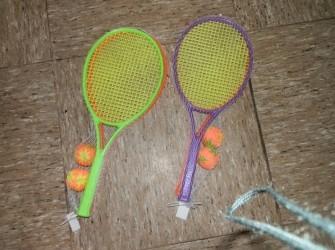 Tennisrackets set met zachte bal