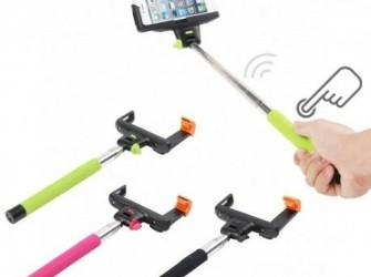 Wireless Selfie stick monopod met knop en ingebouw