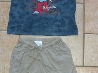 T-shirt en korte broek Skatezone maat 110