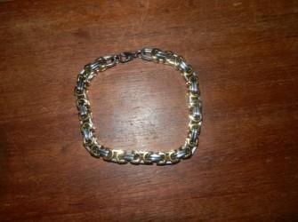 zilver/goud kleurige armband