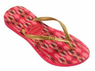 Havaianas slippers Slim mt 41/42 in rood met goud