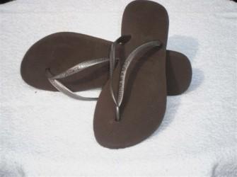 Havaianas slippers Slim mt 41/42 in chocoladebruin