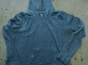 Grijs velours sweatshirt