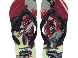 Havaianas slippers Kids Dragon mt 29/30 zwart-rood