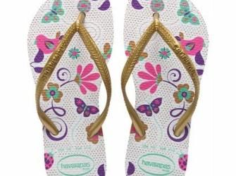 Havaianas slippers Kids Slim G mt 29/30 wit en goud