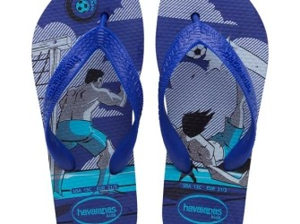 Havaianas slippers Kids Football mt 33/34 in blauw