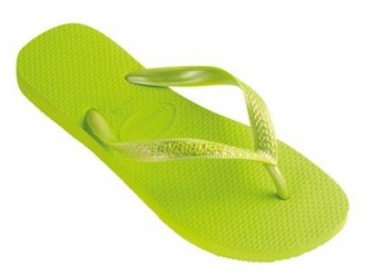 Havaianas slippers Top Metallic 33/34 limoengroen