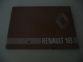 Instructieboekje Renault 18.  +/- 1978.