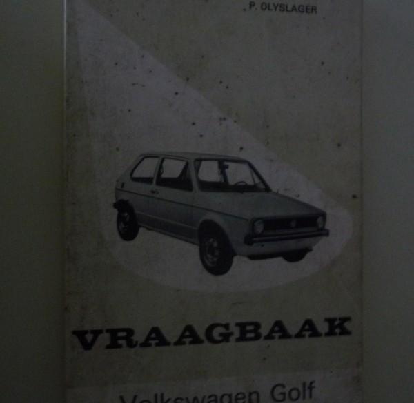 Vraagbaak VW Golf.   1974-1979.