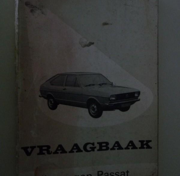 Vraagbaak VW Passat.   1973-1975.