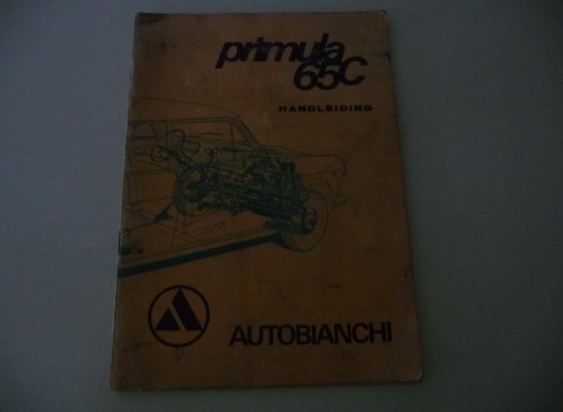 Handleiding Autobianchi Primu;a 65C.  1968