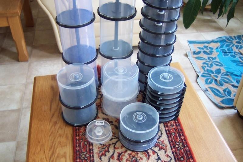 Diverse soorten lege spindels/cakeboxen, 10-25-50-100 stuks…